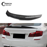 Real Carbon Fiber Car Spoiler Wings Trunk Lid High Kick Boot Wing For BMW F10 F18 520i 523i 528i 530i 535i 550i 2010 2016