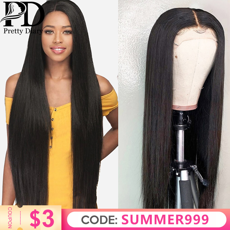 26 28 30 Inch Brazilian Straight 13x6 Lace Front Human Hair Wigs Pre Plucked And Bleached Knots Frontal Wig Remy Hair