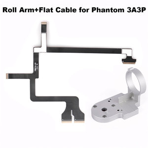 Image 1 - Gimbal Roll Arm Camera Bracket + Ribbon Flat Cable for DJI Phantom 3 P3A P3P Advanced Professional Drone Spare Parts Repairing