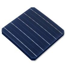 10 قطعة 5W 156*156 مللي متر الضوئية أحادية الشمسية لوحة 6x6 الخليوي الصف عالية الكفاءة ل DIY أحادية السيليكون لوحة