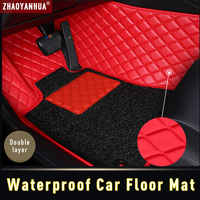 3D Waterproof Car Floor Mat for Audi A6 C5 C6 C7 A4 B6 B7 B8 2019 Accessories Leather Carpet Floor Mat
