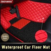 3D Waterproof Car Floor Mat for BMW 5 series F10 F11 F07 E39 E60 E61 GT 520i 523i 525i 2019 Accessories Leather Carpet Floor Mat