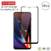 YIYONG 9D funda completa templada de vidrio para OnePlus 6 T 7 6 T 3 T 5T Pantalla de pegamento completo Protector para uno más 6 5T 6 T 7T 8 5 3 T 7T de vidrio
