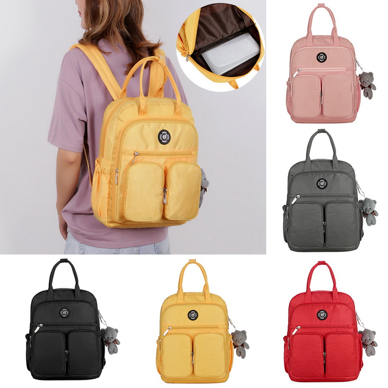 Hac46bf6151de48e99d12788953b52771h - New Waterproof Nylon Backpack for Women Multi Pocket Travel Backpacks Female School Bag for Teenage Girls Dropshipping