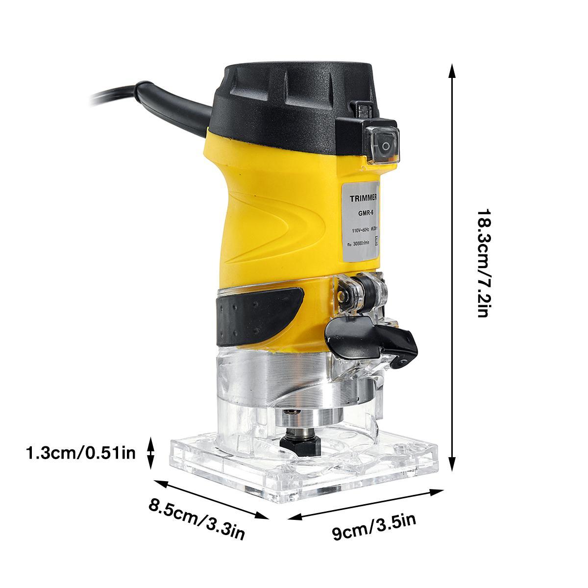 Nouveau 2200W électrique main tondeuse bois routeur 6.35mm bois plastifieuse menuiserie coupe découpage Machine outil électrique - 5