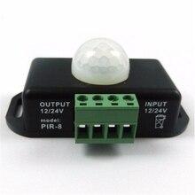 Jiguoor 12 V-24 V 8A светодиодные полосы света лампы движения PIR Сенсор переключатель контроллер