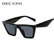 OEC CPO Unisex Cat eye Sunglasses Women 2019 Brand Design Fashion Shades Ladies Vintage Black Sun Glass Men Gradient Oculos O79