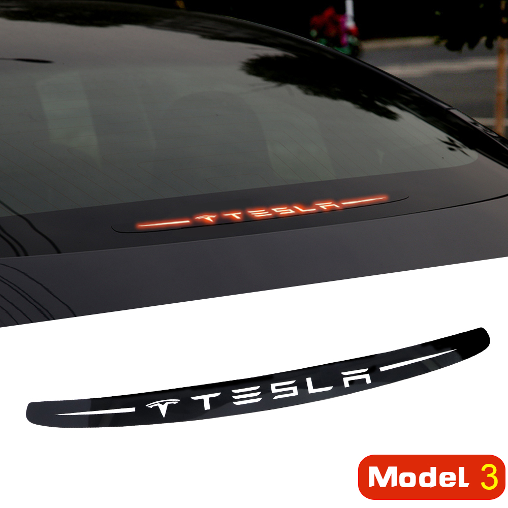 PC Material Car Brake Lights Car Sticker Car Accessories Decoration For Tesla Model 3 Accessories Style