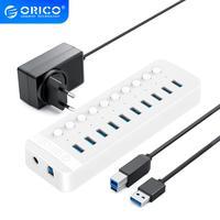ORICO 7 10 13 16 Porte USB 3.0 HUB Multi USB 3.0 Splitter Ad Alta Velocità Adattatore Con 12V di Alimentazione adattatore per PC Accessori Per Computer