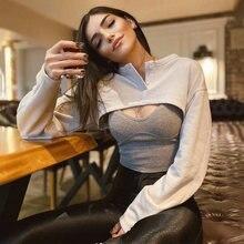 Женские короткие теплые пуловеры ardm однотонные простые с круглым