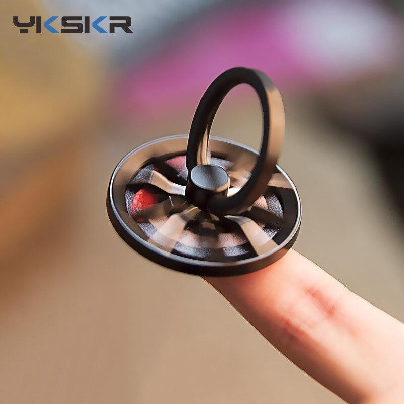 Gyro Finger Ring Holder Hand Spinner Rotary Rotation Metal Mobile Phone Holder Stand For iPhone 6 6s Samsung Phone Ring Holder