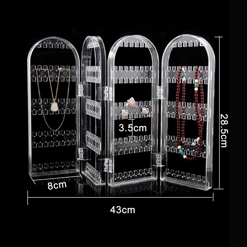 Folding Transparent 240 Holes Stud Earring Holder Organizer Jewelry Display Rack