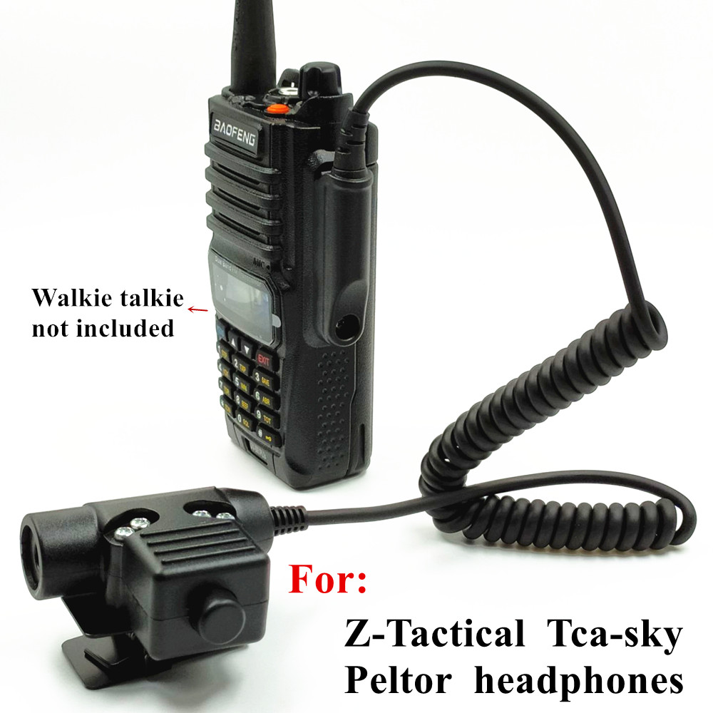 For  Z-Tactical TCA-SKY PELTOR Headset NATO  U94 PTT For Baofeng UV-XR  A58 UV9R UV-9R Plus GT-3WP UV-5S  Radio Walkie Talkie