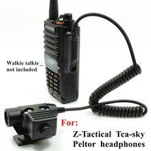 For  Z Tactical TCA SKY PELTOR Headset NATO  U94 PTT for Baofeng UV XR  A58 UV9R UV 9R Plus GT 3WP UV 5S  Radio Walkie Talkie