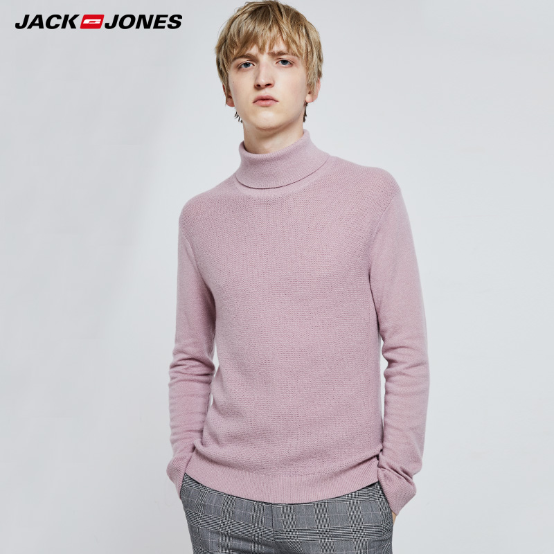 JackJones Mens Autumn & Winter Slim Fit Woolen High-neck Sweater|  219324520