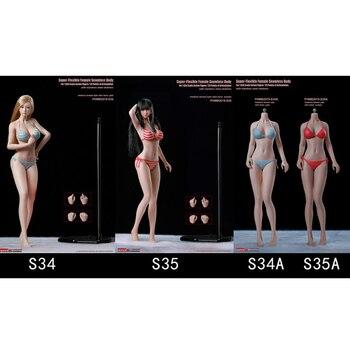 TBLeague Super-Flexible  Seamless Body - S34 / S35 1/6 Female Girl Whole Set Action Figures Model Sculpt Clothes Collections