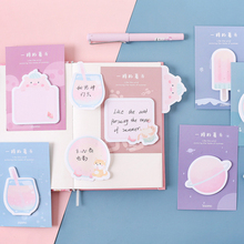 1X Cute Summer series weekly plan Sticky Notes Post Memo Pad kawaii stationery School Supplies Planner Stickers Paper 2pcs lot kawaii british style memo pad weekly plan sticky notes post stationery school supplies planner paper stickers