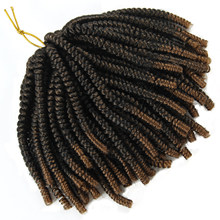60 Strands Spring Twist Hair Extensions Black 613 Ombre Crochet Braids Synthetic Braiding Hair Nubian Twist Bounce Curl(China)