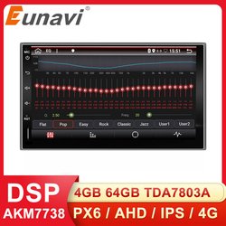 Eunavi 2 Din Universal Car Mutimedia Player Radio Audio Auto GPS Navigation Android 2din Headunit IPS TDA7851 4G 64GB DSP WIFI