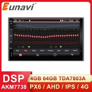 Eunavi 2 Din Universal Car Mutimedia Player Radio Audio Auto GPS Navigation Android 2din Headunit IPS TDA7851 4G 64GB DSP WIFI