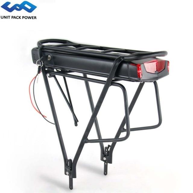 "Arka raf elektrikli eBike pil 36V 17.5Ah 14.5Ah 13Ah bisiklet pil ile 20 28 ""2 katmanlı bagaj 500W 350W 250W Motor"