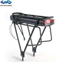 """Bateria elétrica da bicicleta da bateria 36v 17.5ah 14.5ah 13ah de ebike da cremalheira traseira com 20 28 """"bagagem de 2 camadas para o motor de 500w 350w 250w"""