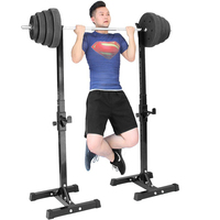 Adjustable Multifunctional Squat Rack Bench Barbell Rack Weightlifting Barbell Rack Strength Training Fitness Equipment HWC
