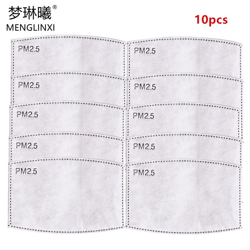10pcs/Lot PM2.5 Filter Paper Anti Haze Mouth Mask Anti Dust Mask Filter Paper Health Care