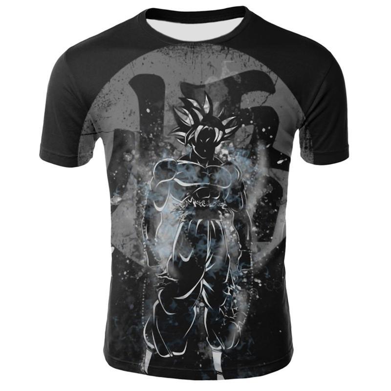 2019 New Men's Fashion Goku Dragon Ball 3D Print Casual Short Sleeve Cosplay T-Shirt Compression Tshirts Free Shipping