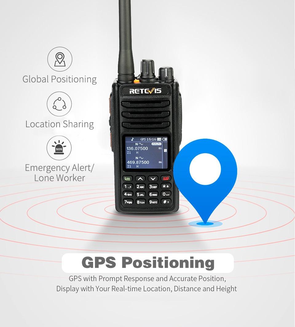 Retevis RT84 3000CH WalkieTalkie Amateur VHF+UHF Dual Band DMR Digital Radio+USB