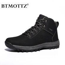 Зимние ботильоны; мужская повседневная обувь; осенние кожаные рабочие Мужские ботинки в стиле ретро на шнуровке; армейские ботинки в стиле милитари; BTMOTTZ
