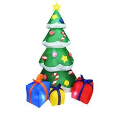 Dmuchana choinka 2 1m wysoki automatyczny nadmuchiwane drzewo wbudowana dioda LED światła prezent pakiet boże narodzenie dekoracje ogrodowe Spree tanie tanio TOPATY Inflatable Christmas Tree And Spree 1700g