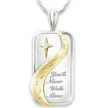 diamond necklace  pendant jade rose gold jewelry Never alone footprints buddha XL042