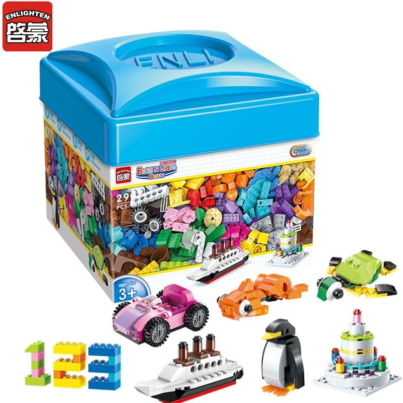 460pcs DIY Building Blocks Enlighten 2901 Creative Classic Juguete Gift Plastic Bricks City Toys For Children Boys Girls
