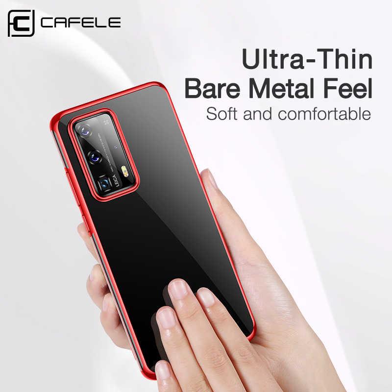 Cafele Mewah Plating Case untuk Huawei P40 Pro Ultra Tipis Full Cover Case untuk Huawei P40 40pro Lembut Transparan Anti sidik Jari