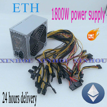 ETH ETC MINER PSU 1800W (with cable) ETH Miner Power Supply For P104 P106 RX550 560 RX 570 GTX1050I GTX1060 GTX1080I 6 GPU CARDS фото