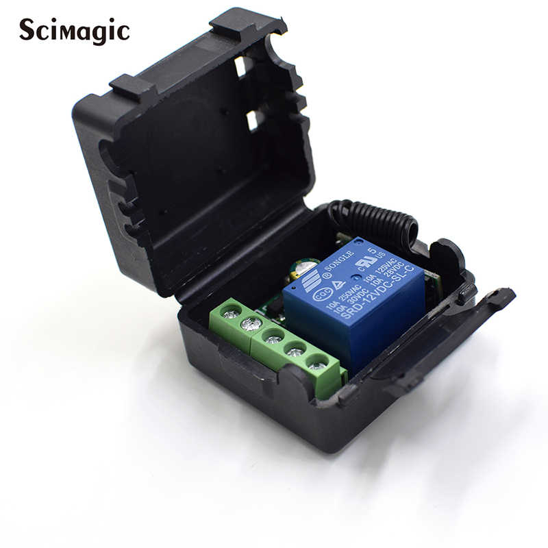 433Mhz DC12V 1CH 릴레이 무선 원격 제어 스위치 스마트 홈 스위치 송신기에 대 한 433 MHz RF 수신기 모듈 Diy