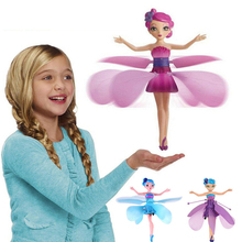 Induction Fairy Magical Princess Dolls infrared Light Suspension Flying doll toys mini drone Girl Ch