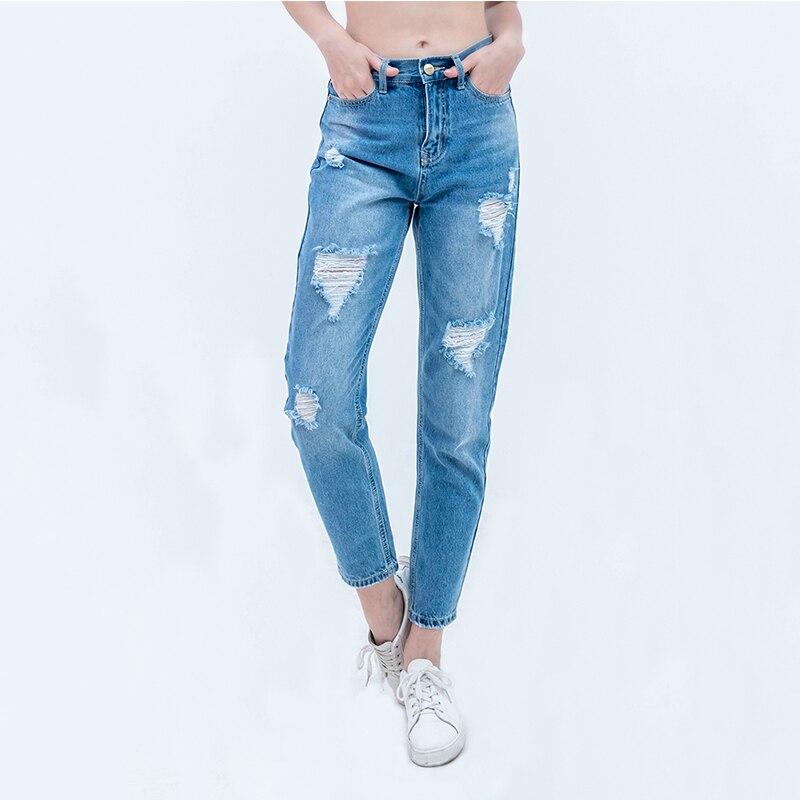 Luckinyoyo jeans dames déchiré jeans pour femme femme maman jeans pantalon petit ami jeans femmes avec taille haute push up grande taille