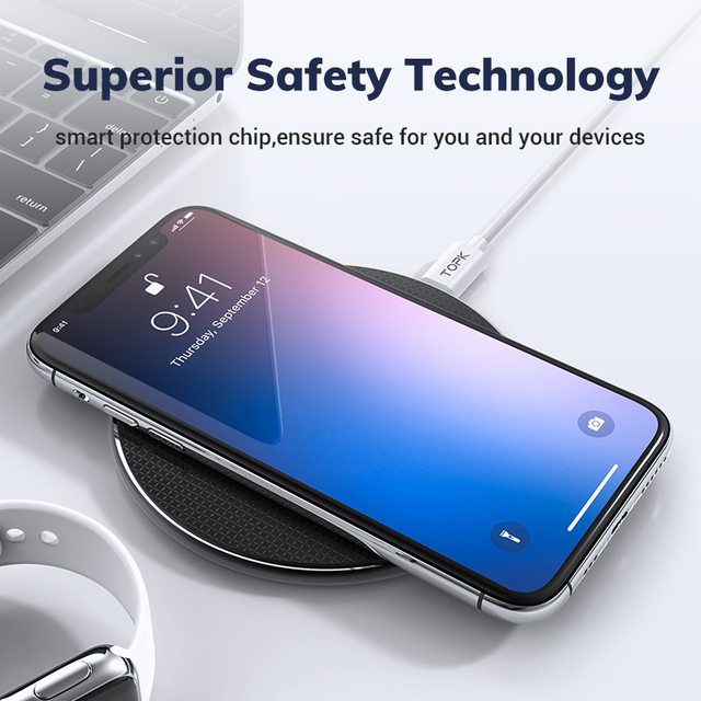Wireless Charger for iPhone Xs Max X 8 Plus 10W Fast Charging Pad for Samsung Note 9 Note 8 S10 Plus 2