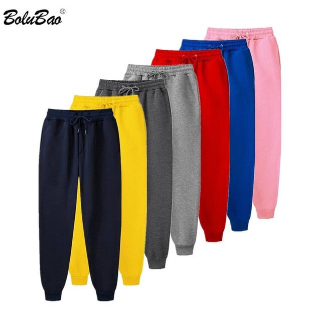 BOLUBAO Men Solid Color Harem Pants Fashion Brand Men's High Quality Casual Trousers Male Drawstring Pencil Sweatpants