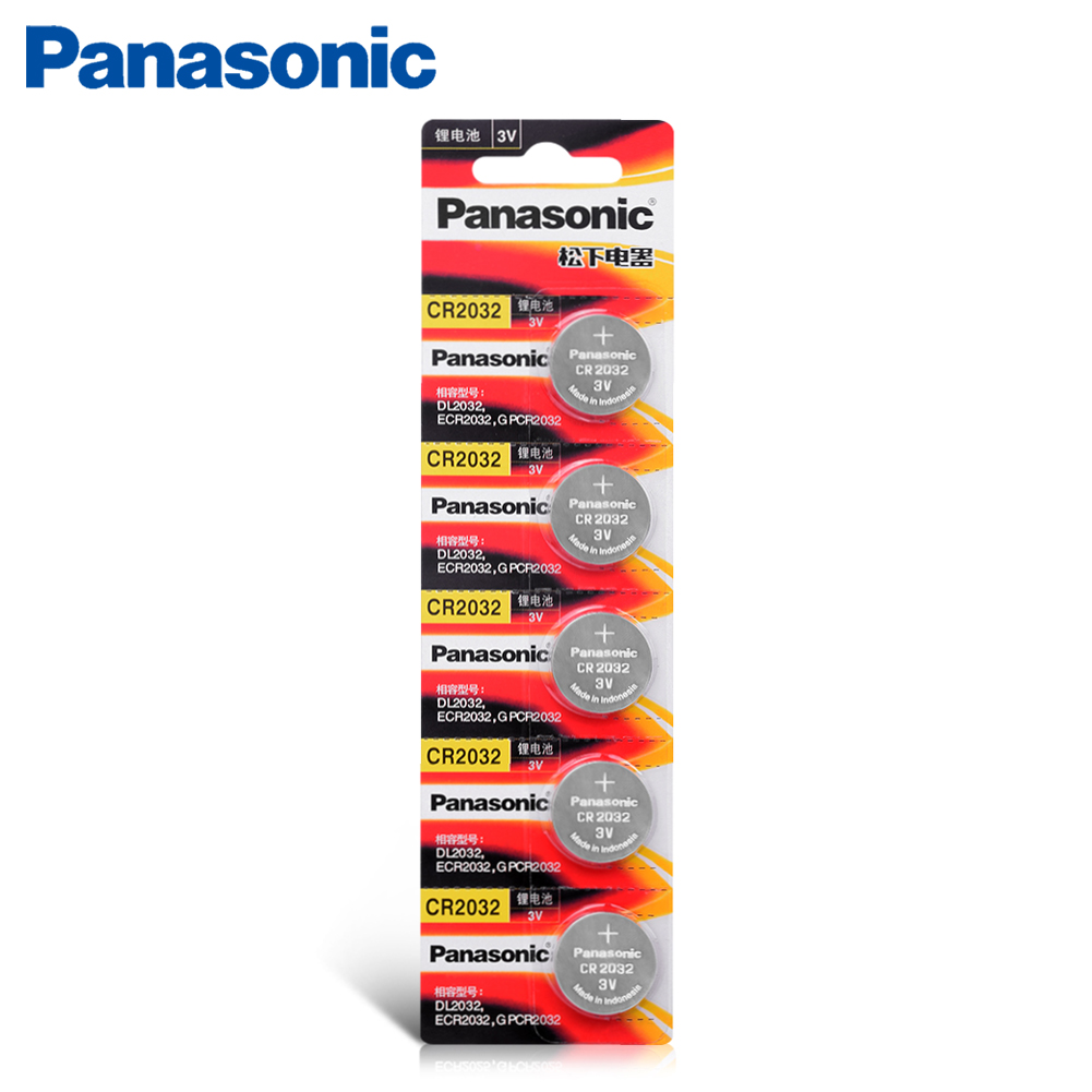 5Pcs <font><b>PANASONIC</b></font> cr2032 3v original brand new <font><b>battery</b></font> for button cell coin <font><b>batteries</b></font> for watch computer cr <font><b>2032</b></font> Suitable Supports image