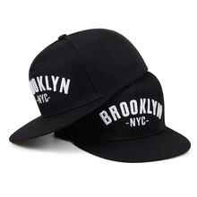 Новая бейсболка с вышивкой из Бруклина, Мужская модная хлопковая шапка, Отрегулированная, уличная, Спортивная, шапки для отдыха, хип-хоп бейсболки