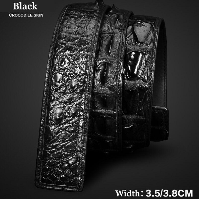 Ceintures hommes casual haute qualité ceinture vintage hommes ceinture en cuir noir crocodile ceintures hommes pas de boucle ceinture sans boucle homme 6132