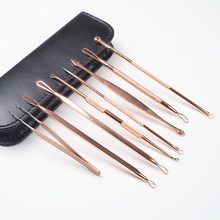 8pcs/set Blackhead Comedone Acne Pimple Blemish Extractor Remover Stainless Needles Remove Tools Face Skin Care Pore Cleaner(China)