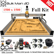 1515 blei CNC Full Kit 1500x1500mm 4 Achse DIY CNC Carving Maschine Komplette Kit CNC Fräsen Stecher