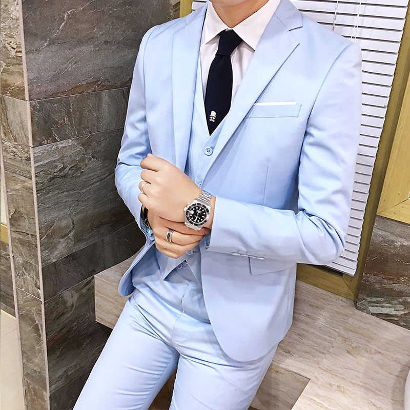 New Style Suit MEN'S Suit Set Slim Fit Business Korean-style Casual MEN'S Suit Set