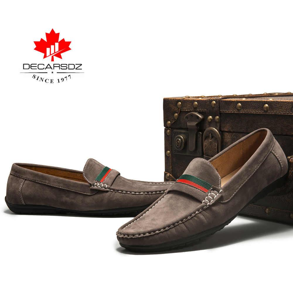 Mannen Loafers schoenen 2019 Herfst Mode Mocassins Footwear Suede Slip-On Merk mannen Schoenen Mannen Vrije Tijd Wandelen Mannen casual Schoenen
