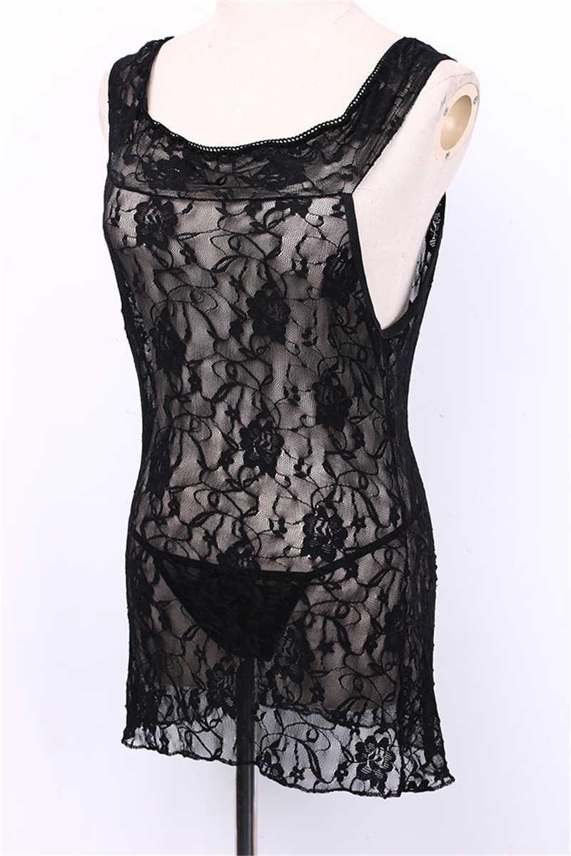 בתוספת גודל הלבשה תחתונה סקסי חם ארוטי שמלת נשים תחרה פרחוני הדפסת סקסי Babydoll נשים סקסי תחפושות XXXL XXL Nightwear