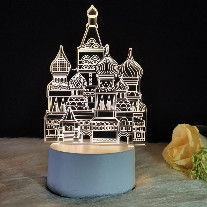 ZUCZUG Home Decoration Accessories 3D LED Night Light Ferris Wheel Castle Flamingo Kid Birthday Gift Night Light Christmas Decor